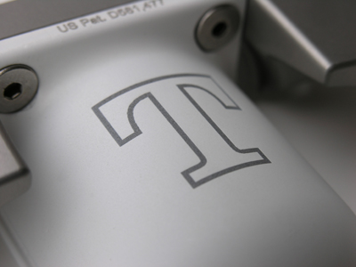 Model BG-1 Putter laser engraved, UT Vols Power T, close-up