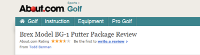 About Brex Golf putter review article