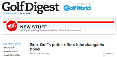 Golf Digest Brex Golf New Stuff