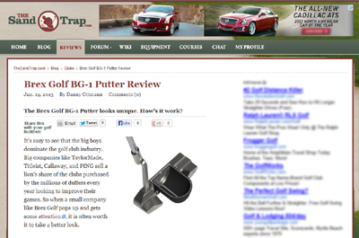 The Sand Trap (www.thesandtrap.com) BG-1 Complete Package Putter Review