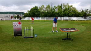 Brex Golf Demo Day setup