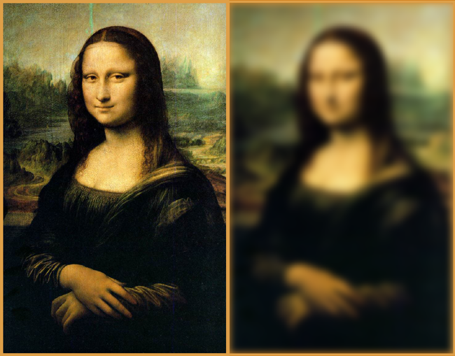 Mona Lisa blurred image
